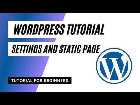 Settings and Static Page - WordPress Tutorial for Beginners in Urdu Hindi