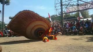 Reog Ponorogo Di Kecamatan Sawo. .acara Memperingati Hari Kemerdekaan RI Ke-72. .Pembarong Musang