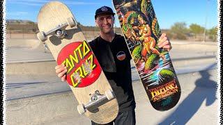 3D CONCAVE VS MEDIUM CONCAVE! 8.375 CLASSIC DOT PRODUCT CHALLENGE | Santa Cruz Skateboards