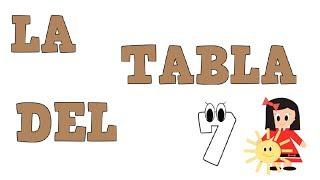 La Tabla del 7 -  Tablas de Multiplicar - Vídeos educativos para Niñosy Bebés - Paty y Poty
