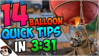 14 QUICK Tips About: Balloon🎈| Clash Royale
