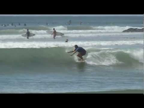 Finless surfing at Noosa's inside section perfection