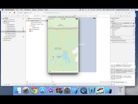 iOS programming: MapKit Tutorial with Objective c and xcode 6