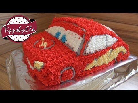 How To Make A Cars Cake Lightning Mcqueen