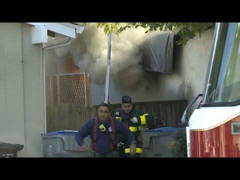 RAW: San Jose Fire Crews Battle 2-Alarm House Fire