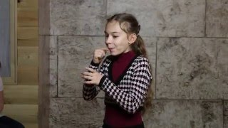 Дарья Мазанова - кастинг на рекламу шоколадной пасты