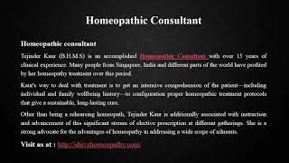 Homeopathic Consultant Singapore