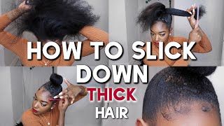 How To Slick Down Thick Type 4 Natural Hair Using Gummy Hair Wax ( Red ) || Naomi Christina