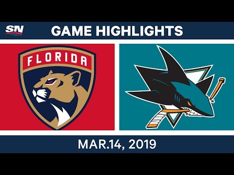 NHL Highlights | Panthers vs Sharks – Mar 14, 2019