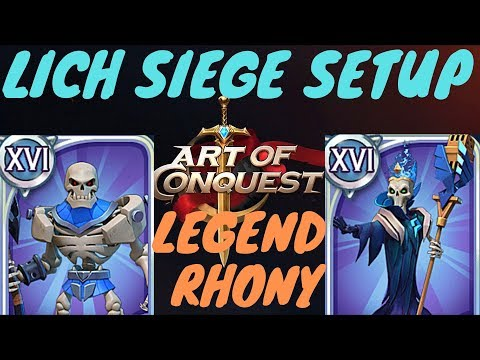lich honor/plunder setup - Heroes trials update - time=expensive resource - Art of Conquest