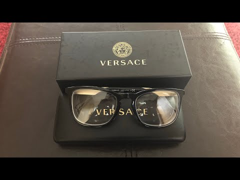 UNBOXING MY NEW PAIR OF VERSACE GLASSES!!