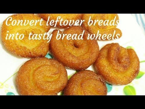 Bread wheels - Bread jalebi - Sweet bread wheels - Bread recipe