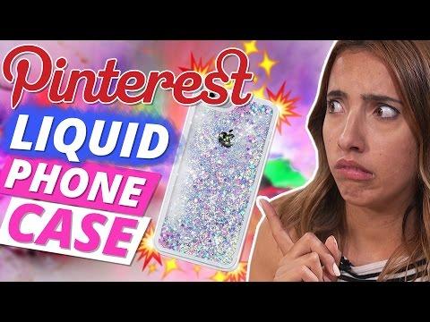 DIY Liquid GLITZER HANDYHÜLLE selber machen!l Pinterest DIY Test l DIY or DI Don't w/SofiaBeautyCafe