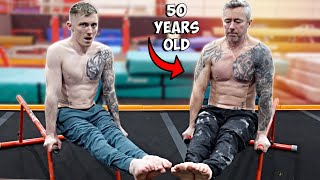 My Dad Trained Gymnastics with me for 30 days! {Inspirational Transformation}   Nile Wilson