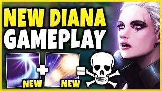 *NEW* COMBO-REWORK DIANA IS EVEN  BETTER THAN BEFORE!!! (PERFECT COMBOS) - League of Legends