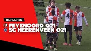 Highlights   Feyenoord O21 - sc Heerenveen O21   2021-2022