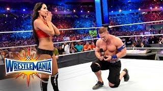 John Cena Proposes To Nikki Bella WrestleMania 33 WWE Network Exclusive