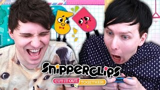 THE GAME THAT WILL DESTROY YOUR FRIENDSHIP - Dan and Phil play: Snipperclips