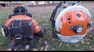 4 Way Lawn Care Blower Comparison - Redmax 8500 vs Stihl BR
