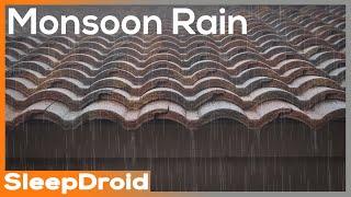 ►Monsoon Rain on a Tile Roof ~ Rain Sounds for Sleeping, Studying, or Meditation, 10 hours, Lluvia