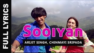 Sooiyan Song Lyrics - Arijit Singh | Guddu Rangeela (2015) Hindi Movie