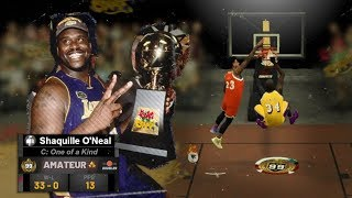 99 OVERALL SHAQUILLE O'NEAL DOMINATES KING of the COURT in NBA2K19