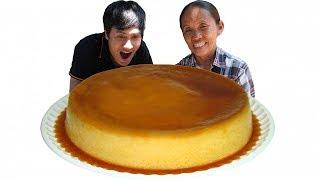 Bà Tân Vlog - Làm Bánh Flan Caramen Siêu To Khổng Lồ   Giant Flan Cake