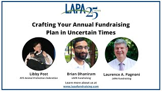 Crafting Your Annual Fundraising Plan in Uncertain Times