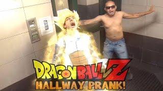 Dragon Ball Z Goku And Vegeta Hallway Prank!