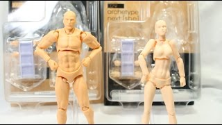 FIGMA Archetype: Next He and She Flesh Color ver. Unboxing/Review