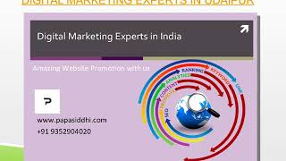 Digital Marketing Experts in Udaipur
