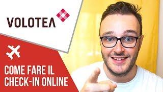 Come fare il Check in online VOLOTEA
