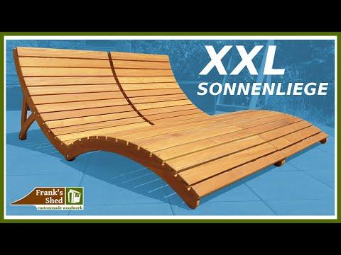 Klappbare XXL Sonnenliege aus Holz bauen | Gartenmöbel selber bauen | Franks Shed DIY
