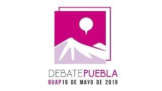 Debate entre los candidatos a la gubernatura de Puebla 2019