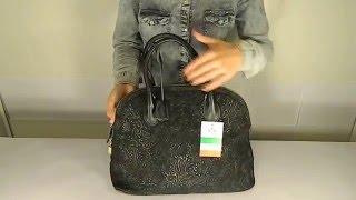 Замшевая женская черная сумка