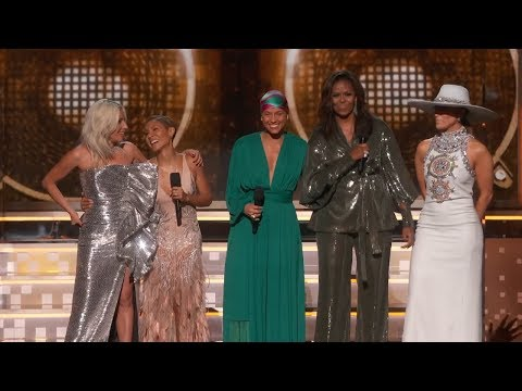 Download Alicia Keys, Michelle Obama, Lady Gaga Open The 2019 GRAMMYs HD Mp4 3GP Video and MP3