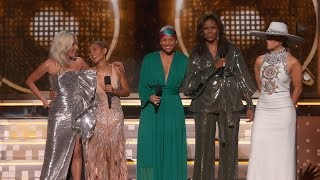 Alicia Keys, Lady Gaga, Jennifer Lopez, Michelle Obama and Jada Pinkett Smith open the 61st GRAMMY Awards.   About the Recording Academy / GRAMMYs:  Recording Academy is the world's leading society of musical professionals, and is dedicated to celebrating, honoring, and sustaining music's past, present and future.   Connect with the Recording Academy / GRAMMYs:  WEBSITE: http://www.grammy.com FACEBOOK: http://grm.my/2gcTcMk  TWITTER: http://grm.my/2gDUHUD   INSTAGRAM: http://grm.my/2gZGIvJ   Subscribe NOW to the Recording Academy / GRAMMYs on YouTube: http://grm.my/1dTBF8H