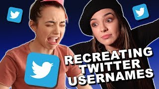 Recreating Twitter Usernames - Merrell Twins