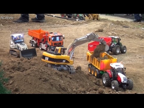RC Trucks Construction Site 3/3 Excavator Baustelle Bagger LKW Raupe ♦ Modellbaumesse Wels 2016