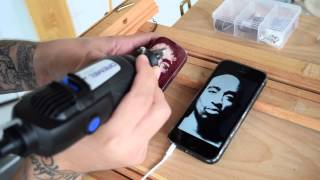 How To Carve On Wood With Dremel / Tupac Portrait