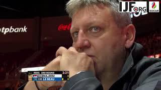 Judo WCh Budapest 2017 -90kg 3rd round Majdov (SRB) vs Le Beau (COO)