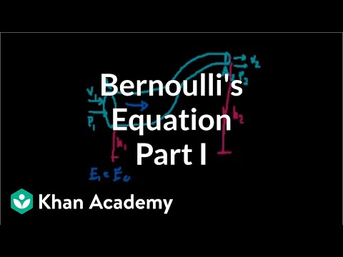 Bernoulli's equation (part 1) (video) | Khan Academy