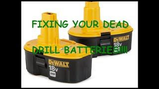 DIY TIPS!!! FIXING YOUR DEAD DRILL BATTERIES!!!!