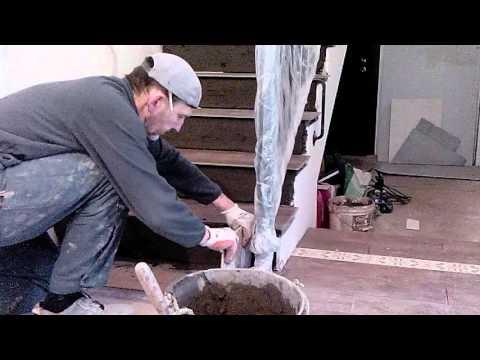 2 Облицовка лестницы плиткой просто