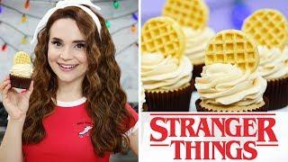 STRANGER THINGS EGGO WAFFLE CUPCAKES - NERDY NUMMIES thumbnail