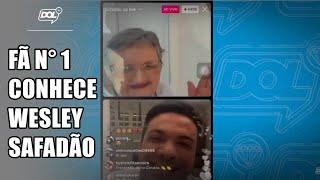 Fã de Wesley Safadão, senhora realiza sonho de conhecer cantor, em Piancó (PB)