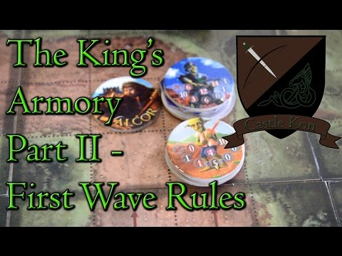Board Game Playthrough : The King's Armory Part 2 - First Wave Rules - Castle Kon