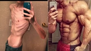 From Thin Skinny Bones To Fitness Body Transformation Motivational Before & After Photos! - 2017