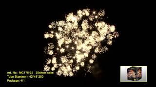 """Салют SKY FIRE MC175-25 Выстрелов: 25; Высота: до 45м; Время: 56сек  Видео. от компании Круглосуточный магазин фейерверков """"Кайман"""" Крым - видео"""
