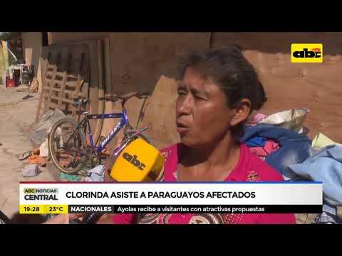 Clorinda asiste a paraguayos afectados por la crecida